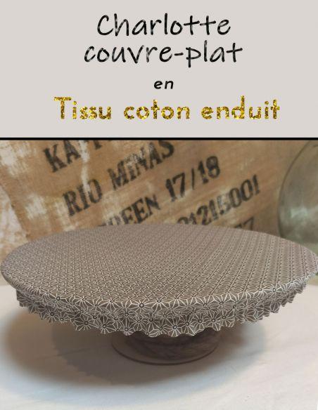Charlottes ou couvre plats en coton enduit
