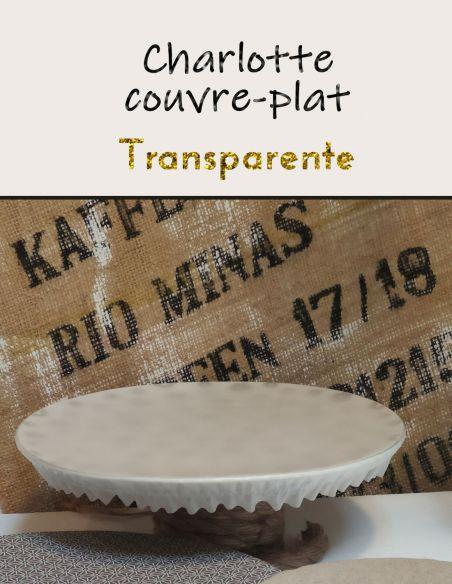 Charlottes ou couvre plats en film alimentaire transparent