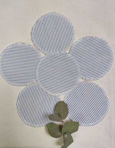 Lingettes personnalisables Tissu Rayé bleu et blanc par l'échoppe de Nine