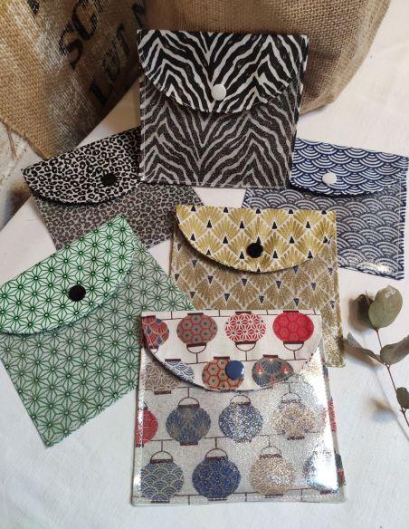 Assortiment de pochettes de voyage en coton pour lingettes par l'échoppe de Nine