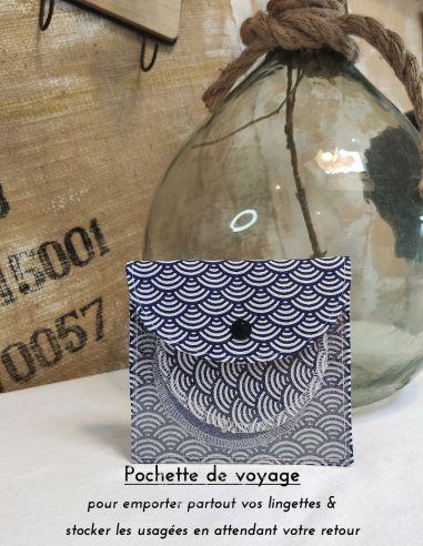 Pochette de voyage en coton pour lingettes par l'échoppe de Nine
