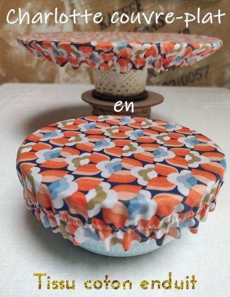 Charlottes ou couvre plats en coton enduit de l'échoppe de Nine