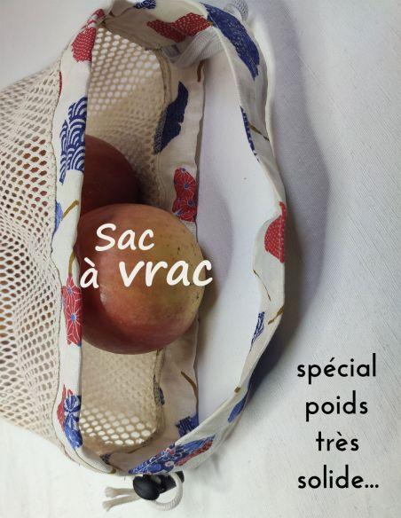 Sac de courses filet repliable motif feuilles de Ginkgo bleu et rouges pour courses de vrac lourd par l'échoppe de Nine