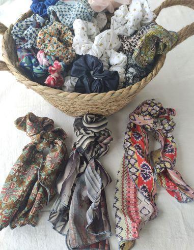 Chouchous foulards ou foulchies issus d'upcycling/recyclage par l'Echoppe de Nine