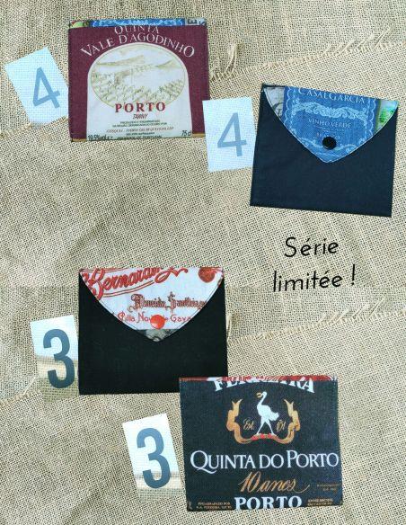 Pochette tissu Portugal, visite de Porto numéros 3 et 4 par l'Echoppe de Nine