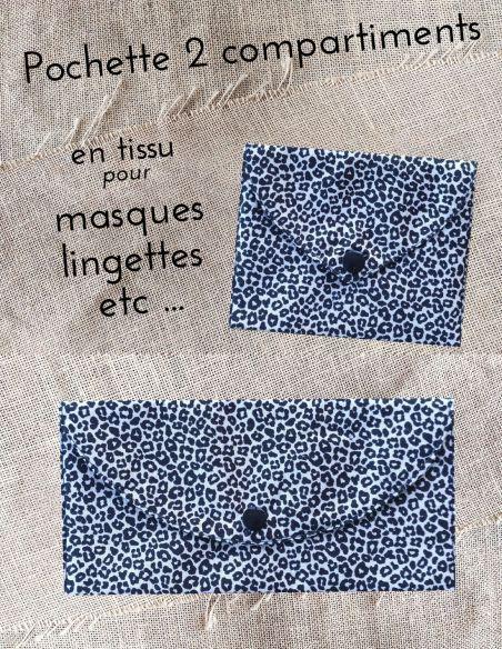 Pochette personnalisable motif léopard version compacte ou pochette du soir par l'échoppe de Nine