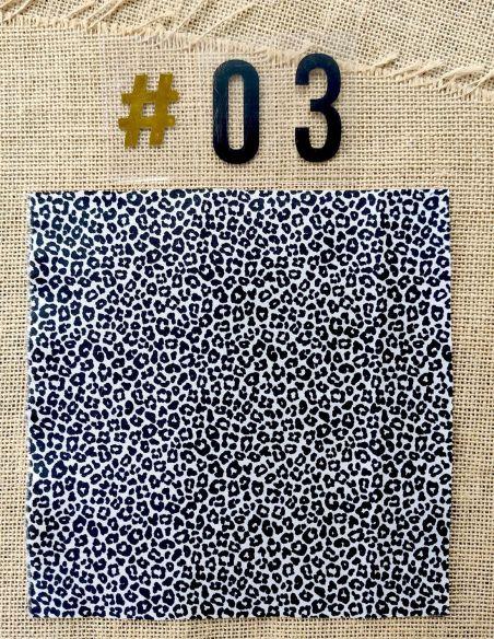 Tissu motif léopard pour Pochette personnalisable par l'échoppe de Nine