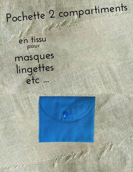 Pochette personnalisable coloris uni bleu roi  par l'échoppe de Nine