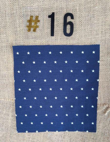 Tissu motifs étoiles blanches fond bleu marine pour Pochette personnalisable par l'échoppe de Nine