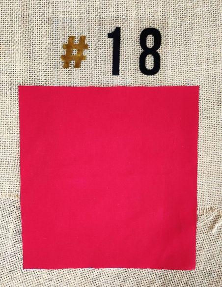 Tissu coloris uni rouge pour Pochette personnalisable par l'échoppe de Nine