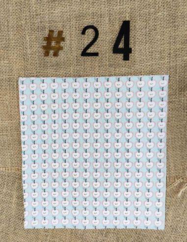 Tissu motifs pommes couleurs pastel pour Pochette personnalisable par l'échoppe de Nine