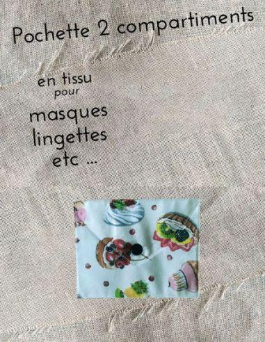 Pochette personnalisable rétro motifs pâtisseries gourmandises par l'échoppe de Nine