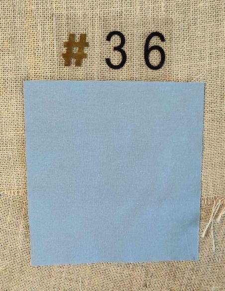 Tissu coloris uni gris bleuté clair pour Pochette personnalisable par l'échoppe de Nine