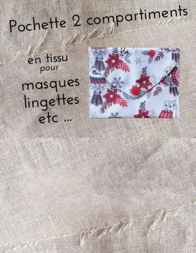 Pochette personnalisable motifs petites chouettes & flocons thème Noël par l'échoppe de Nine