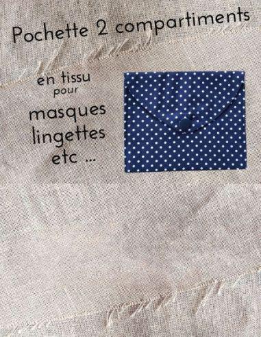 Pochette personnalisable rétro bleu marine pois blancs par l'échoppe de Nine