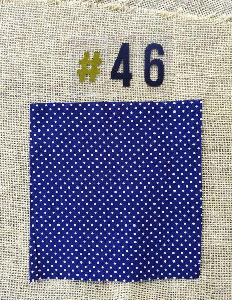 Tissu rétro bleu marine pois blancs pour Pochette personnalisable par l'échoppe de Nine