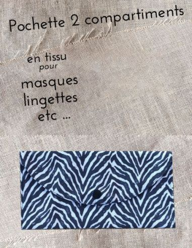 Pochette personnalisable zèbre Noir & blanc par l'échoppe de Nine