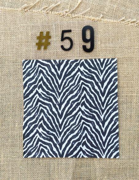 Tissu zèbre Noir & blanc pour Pochette personnalisable par l'échoppe de Nine