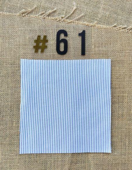 Tissu Rayé bleu et blanc pour Pochette personnalisable par l'échoppe de Nine