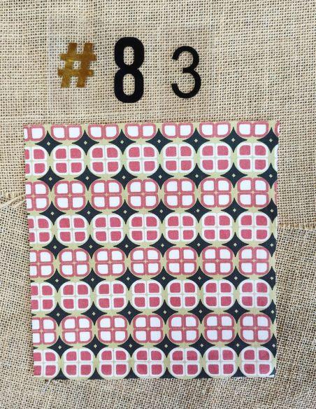 Tissu motifs graphiques corail & or mat esprit vintage pour Pochette personnalisable par l'échoppe de Nine