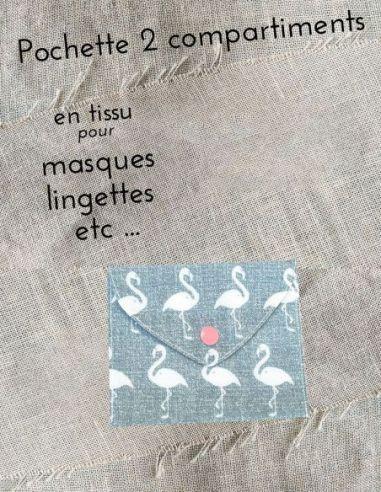 Pochette personnalisable flamand roses écrus fond gris par l'échoppe de Nine
