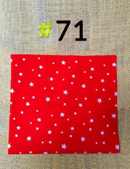 Tissu étoiles blanches fond rouge pour Pochette personnalisable par l'échoppe de Nine