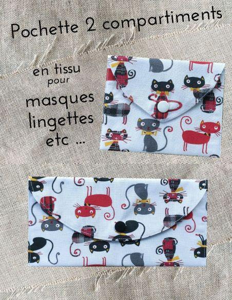 Pochette personnalisable motifs chats rouges noirs écossais  par l'échoppe de Nine