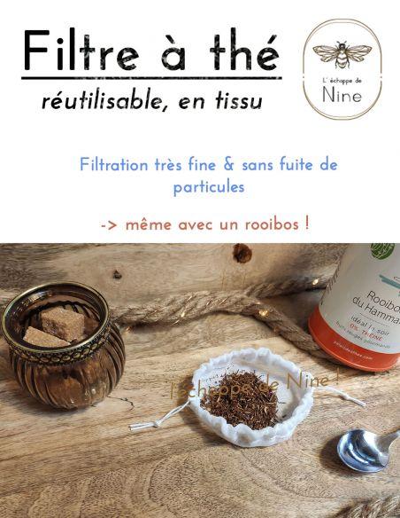 Filtre à thé rempli de Rooibos par l'échoppe de Nine