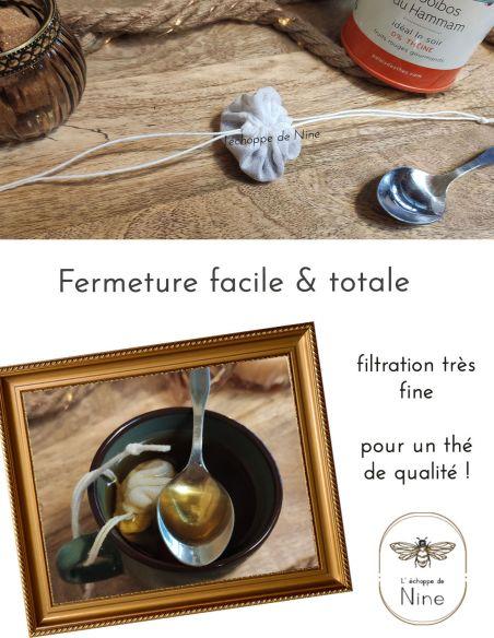 Filtre à thé avec fermeture facile pour filtration fine par l'échoppe de Nine