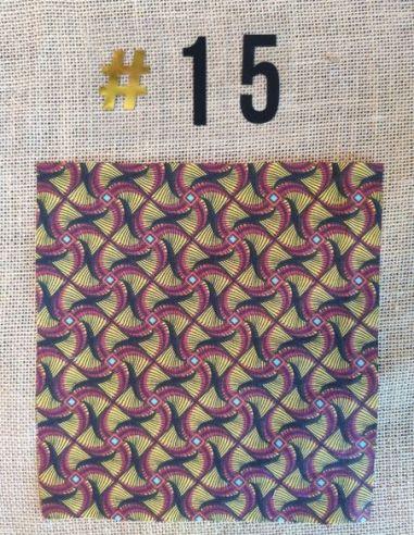 Tissu style wax graphique noir & bordeaux pour Lingettes personnalisablespar l'échoppe de Nine