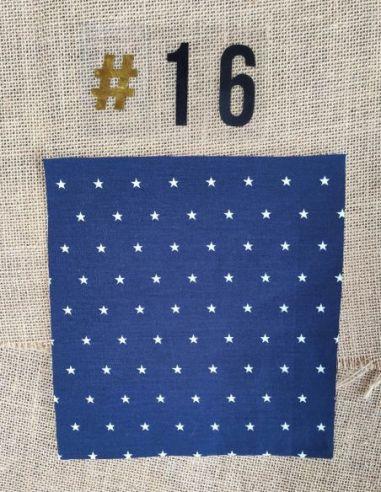 Tissu motifs étoiles blanches fond bleu marine pour Lingettes personnalisablespar l'échoppe de Nine