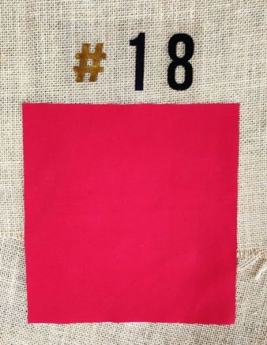 Tissu coloris uni rouge pour Lingettes personnalisablespar l'échoppe de Nine