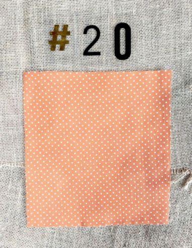 Tissu rétro petits pois blancs fond orange pour Lingettes personnalisablespar l'échoppe de Nine