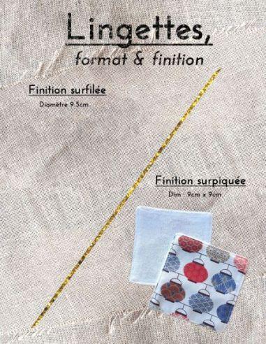 Lingettes personnalisables motifs lampions bleus rouges fond écru par l'échoppe de Nine