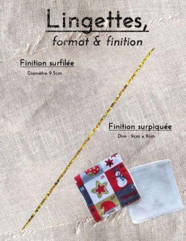 Lingettes personnalisables motif calendrier de l'avent thème Noël par l'échoppe de Nine