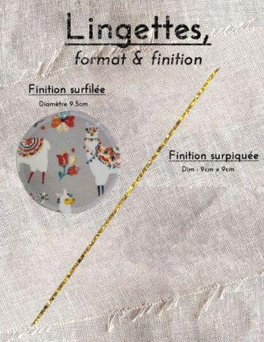 Lingettes personnalisables motifs lamas colorés jaune orange bleu fond gris par l'échoppe de Nine