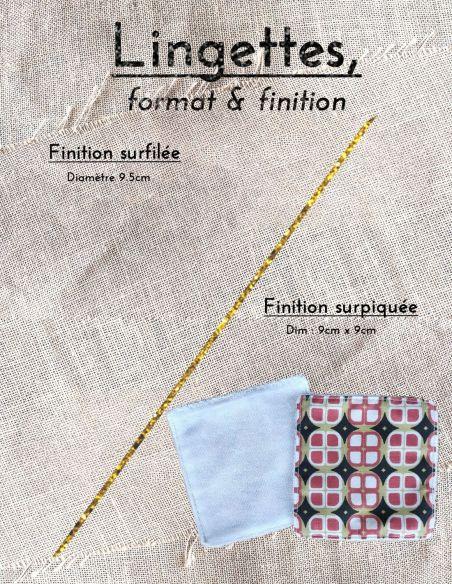 Lingettes personnalisables motifs graphiques corail & or mat esprit vintage par l'échoppe de Nine
