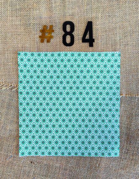 Tissu motifs graphiques verts & noirs fond blanc pour Lingettes personnalisablespar l'échoppe de Nine
