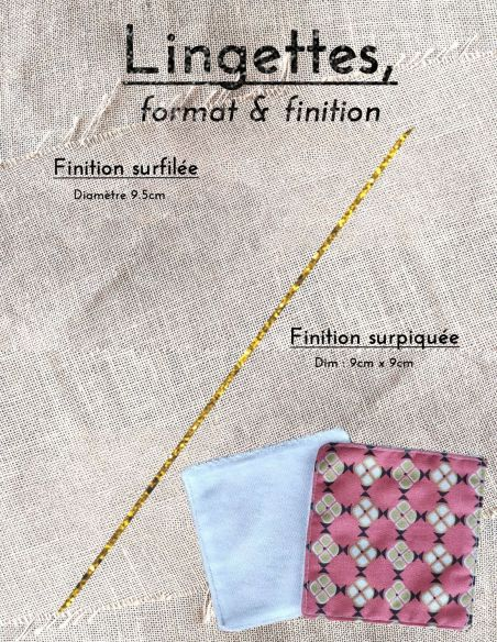 Lingettes personnalisables motifs vintages graphiques bronze clair fond corail  par l'échoppe de Nine
