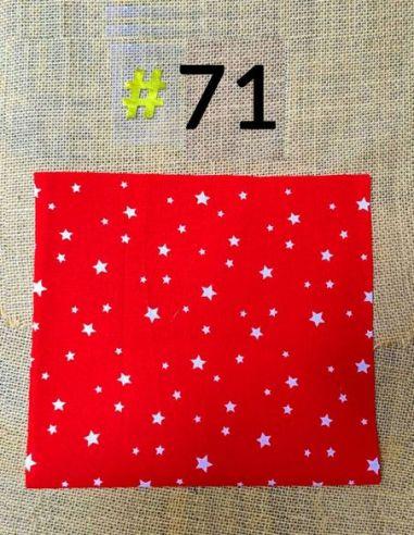 Tissu étoiles blanches fond rouge pour Lingettes personnalisablespar l'échoppe de Nine
