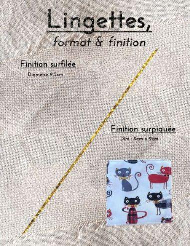 Lingettes personnalisables motifs chats rouges noirs écossais  par l'échoppe de Nine