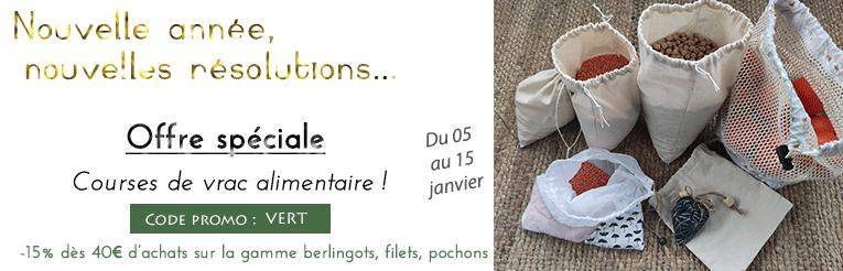 Offre spéciale sacs de courses de vrac réutilisables