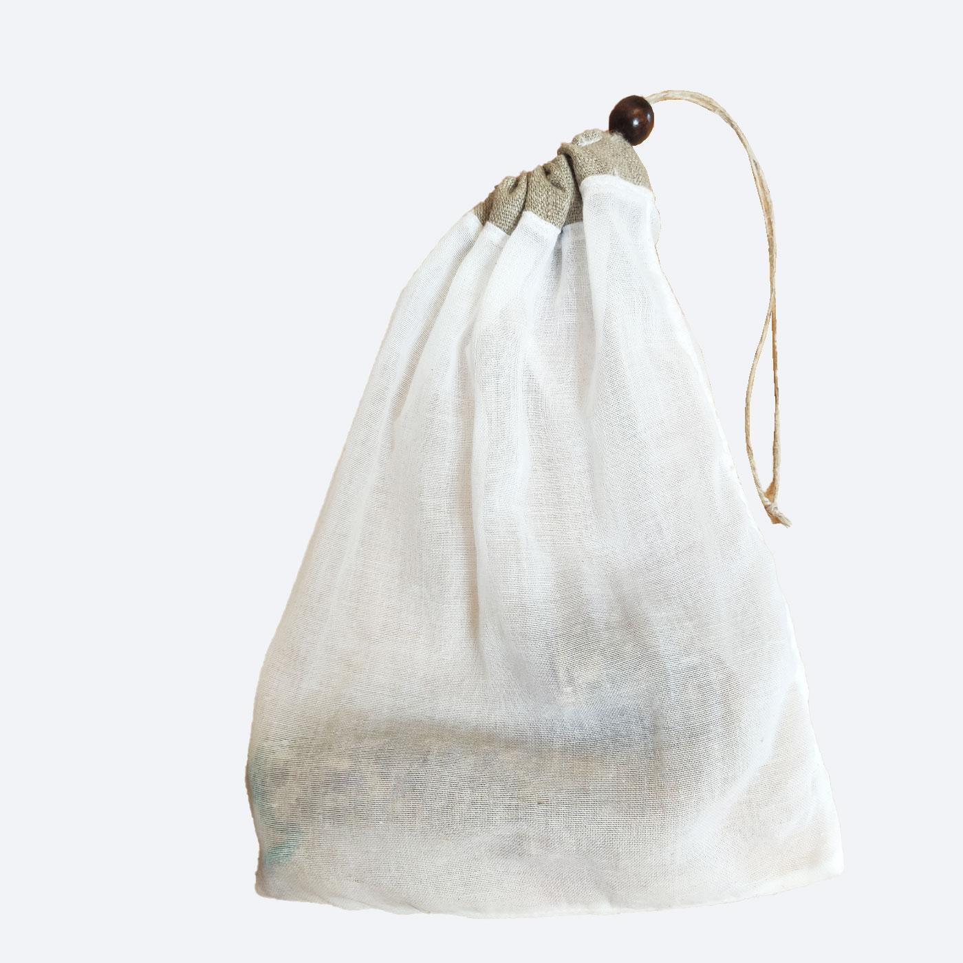 Pochon à saucisson ou charcuteries sèches en coton certifié contact alimentaire de l'échoppe de Nine