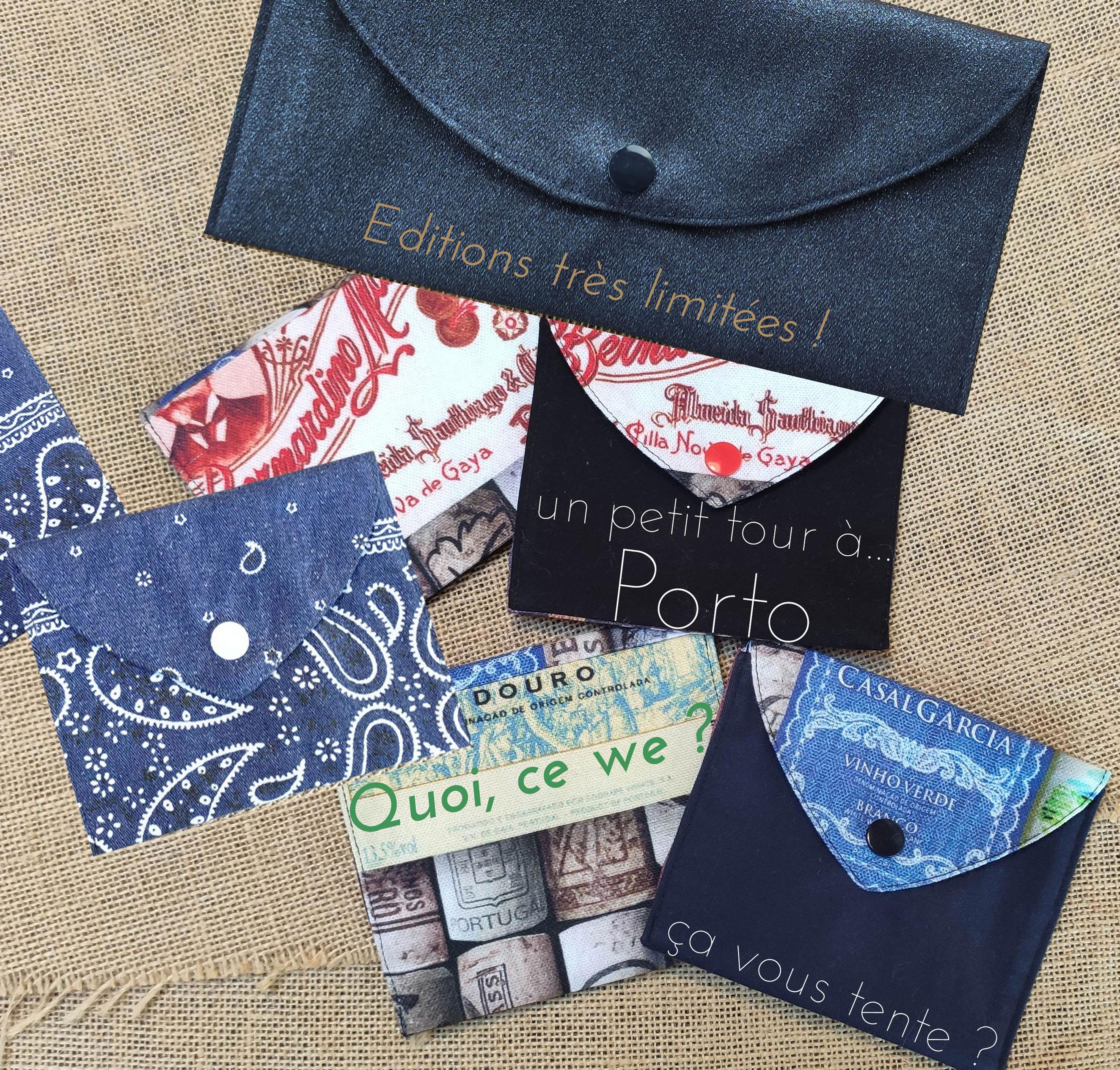 Pochettes pour masques en tissu en editions limitées par l'échoppe de Nine