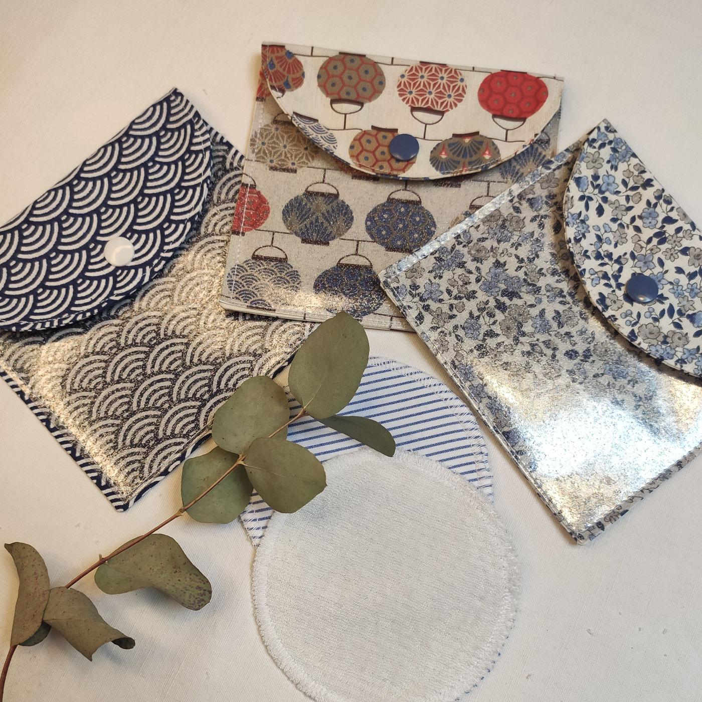 Les pochettes de voyage en coton pour lingettes par l'échoppe de Nine