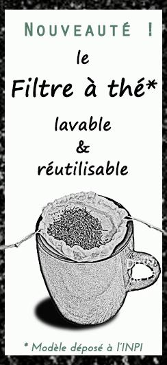 Filtre à thé ou Rooibos en tissu, filtration extra fine